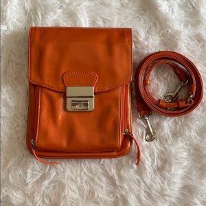 Orange clutch / cross body